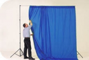 Colorama Chromakey Curtain Blue 3m x 7m